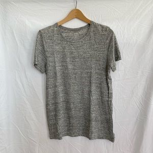 Old Navy Speckled Gray Basic Relaxed Fit T-Shirt